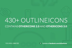 430+ Outlineicons