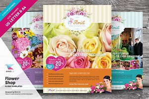 Flower Shop Flyer Templates