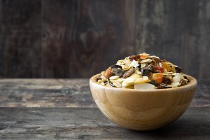 Muesli and dried fruit