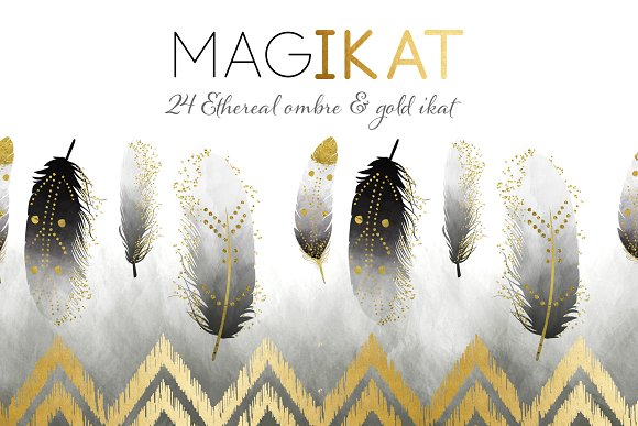 MAGIKAT 24 Ethereal Ikat Papers