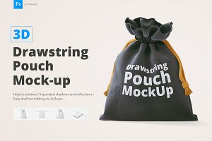 Drawstring Pouch Mock-Up