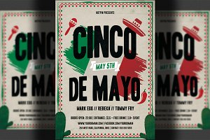 Cinco De Mayo Party Flyer Template