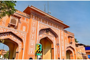 New Gate in the Pink City of Jaipur - India