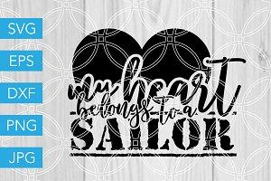 My Heart Belongs to a Sailor SVG