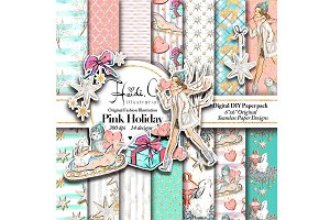 Pink Holiday Paper Pack