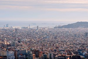 barcelona view from above