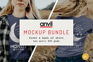 Womens T-shirt Bundle Anvil 880