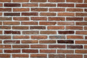 Red brown brick wall texture background