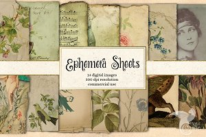 Ephemera Sheets