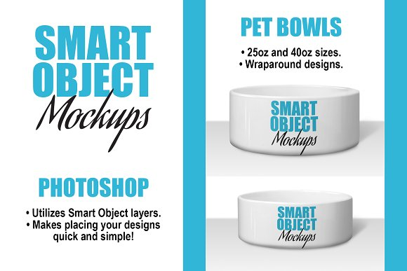 Ceramic Pet Bowl Mockups 2 PSDs