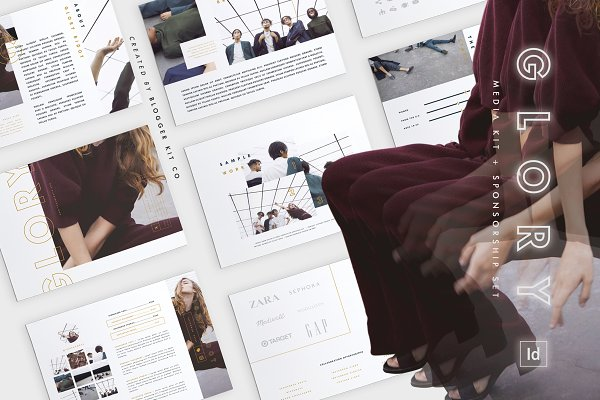 Resume Templates: Blogger Kit Co. - Media Kit + Sponsorship Set | Glory