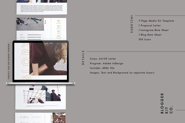 Resume Templates: Blogger Kit Co. - Media Kit + Sponsorship Set | Glory