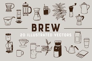 BREW | 20 Coffee Vectors