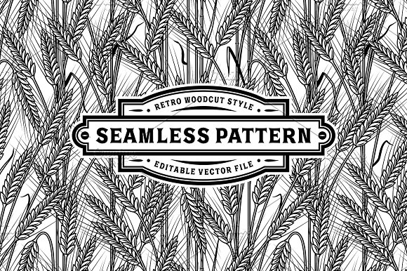 Seamless Cereal Ears Pattern