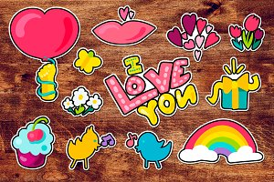 Romantic Love Patches Set