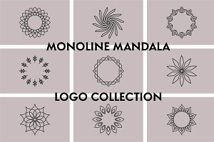 Monoline Mandala Logo Collection