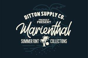 Marienthal Font Bundle + Extras!
