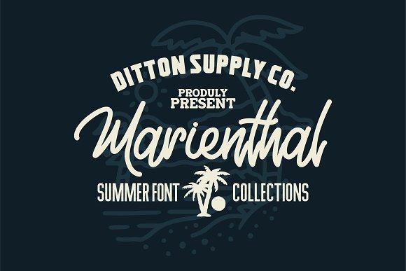 Marienthal Font Bundle Extras