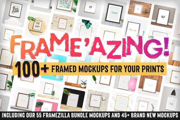Frame'azing 100 Poster Mockups