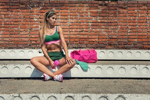 Fit woman training
