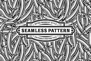 Seamless Chili Pepper Pattern