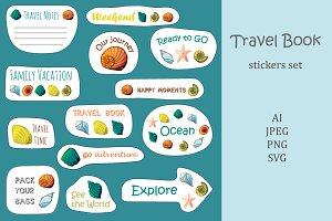 Travel Book Sticker's Set