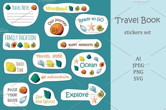 Travel Book Sticker's Set