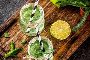 Aloe vera or cactus juice