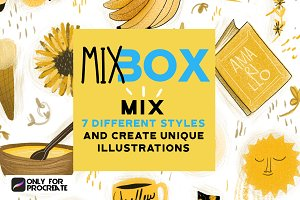 Mix Box brushes for Procreate