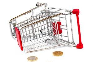 Cart broken and money fallen out