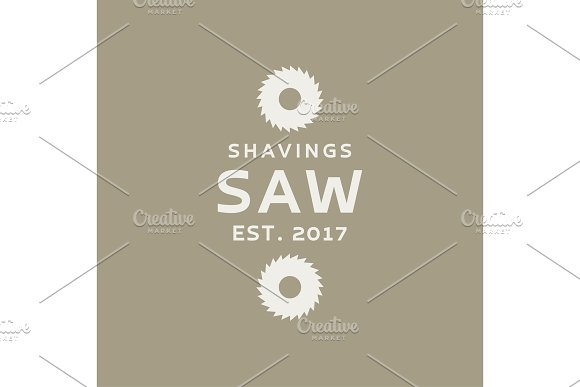 Circular Saw With Modern Logos Vector Illustration Flat Style