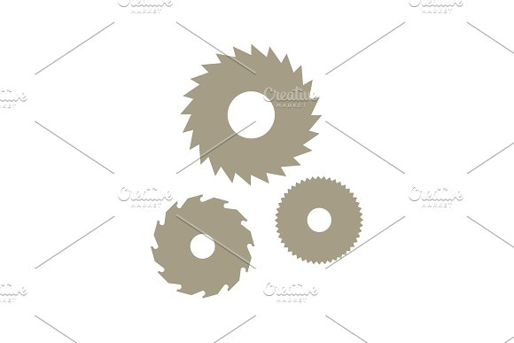 Circular Saw With Modern Vector Icon Illustration Flat Style