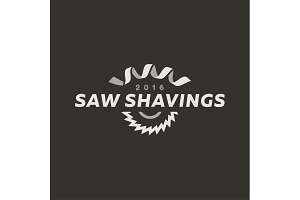 Abstract disc circular saw and shaving modern logo vector illustration of a flat style