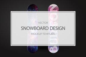 Snowboard Mockup Template