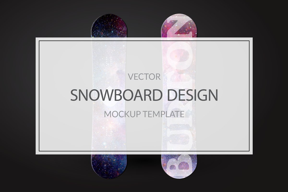 Snowboard Mockup Template Product Mockups Creative Market