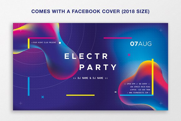 Electro Summer Party Flyer