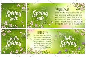 Hello Sale Spring. Engraving