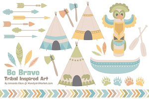 Vintage Tribal Clip Art & Vectors