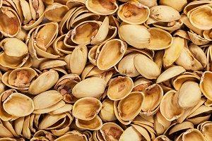 Pistachio shells. Empty Pistachio