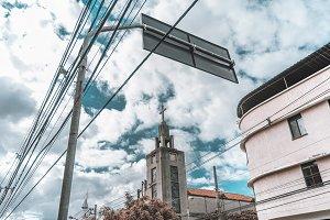 Abandoned church in urban settings