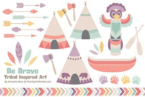 Vintage Tribal ClipArt & Vectors
