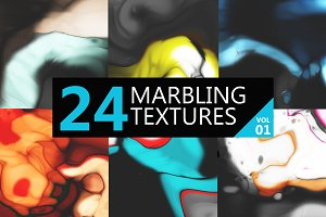 24 marbling textures