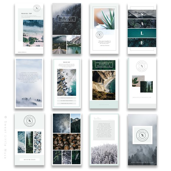 Instagram Stories Templates For PS