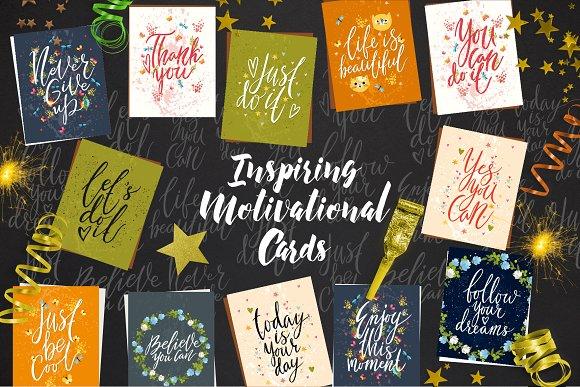 Inspiring Motivational Cards Letter