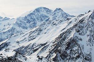 Mount Elbrus in the snow
