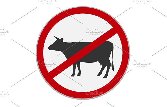 No Beef Sign Dietary Restriction