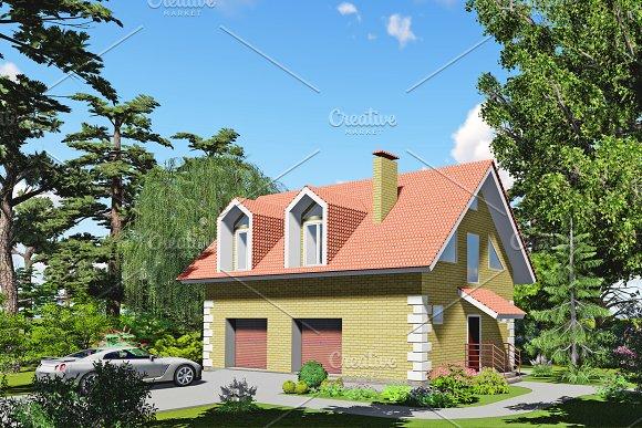 3D Visualization Brick Garage