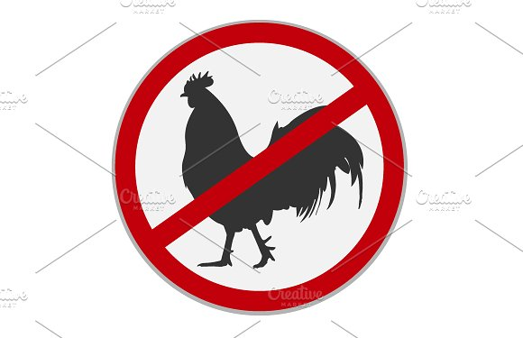 No Chicken Sign Dietary Restriction