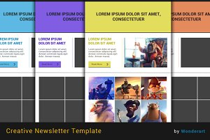 Creative E-Newsletter Template