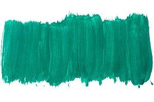 Turquoise background gouache
